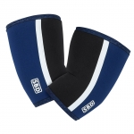 Elbow sleeves blue/white large image