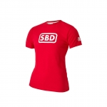 T-shirt red/white small Ladies image